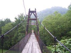 Swinging Bridges in Kentucky | OLD SWINGING BRIDGE IN PAINTSVILLE KY...