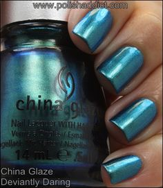China Glaze Deviantly Daring Shift - swatched on nail wheel - BLACK CAP - SOLD