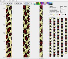 Wzór wężowa bransoletka z koralików na szydełku Łaciata