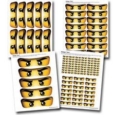 Ninjago Eyes for Party Favors Printable label by LCDesigns615