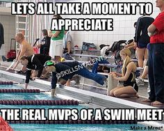 as a 500 swimmer and a counter I disagree. The swimmer is the real mvp the counter is just a great friend, give the credit to the person working the bit off in the water not the person sitting on their bottom watching the other person swim. Swimming Funny, Swimming Memes, I Love Swimming, Swimming Sport, Swimming Diving, Swimming Tips, Swimmer Girl Problems, Gymnastics Problems, Sport Gymnastics