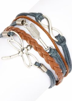 Dragonfly braided bracelets