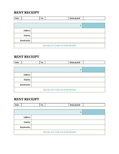 Rent Receipt for Income Tax Purposes - Microsoft Word Template ...