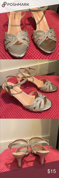 Spotted while shopping on Poshmark: LLorraine Vennessa Embellished Heeled Sandals! #poshmark #fashion #shopping #style #Shoes
