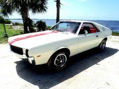 1969 American Motors AMX Javelin |  True X Code 390 Car 4 Speed Go Package Frost White