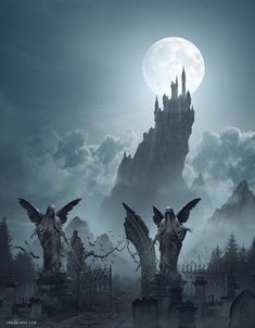 Ravenloft - Strahd's Castle by ianllanas on DeviantArt Dark Fantasy Art, Fantasy Concept Art, Fantasy City, Fantasy Castle, Fantasy Places, Fantasy Kunst, Medieval Fantasy, Fantasy Artwork, Fantasy World