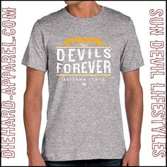 "The Vintage ARIZONA STATE ""DEVILS FOREVER"" T-Shirt, On Sale now for $17.95 #LicensedSunDevilSwag #SunDevils #ASUFootball Only at DieHard-Apparel.com"