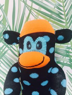 A personal favourite from my Etsy shop https://www.etsy.com/uk/listing/534342402/spotty-socks-sock-monkey-doll-handmade