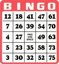 Foster Bates bingo for real. Bingo Tickets, Ticket Card, Bingo Cards, Printable Thank You Cards, Printable Business Cards, Printable Christmas Cards, Free Printable, Bingo Maker, Play Bingo Online