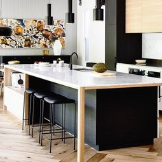 Great island bench solution via @boschhomeau #homeinspo #kitchendesign #kitchen #buildmydreamhome