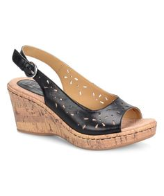 Look at this Black Andaya Leather Wedge on #zulily today!
