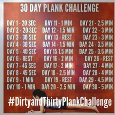 JOIN ME FOR THE 30 DAY PLANK CHALLENGE AND CELEBRATE NATIONAL WOMEN'S HEALTH & FITNESS DAY! #DIRTYANDTHIRTYPLANKCHALLENGE @StuartBrazell