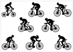 Image result for person on bike stencil
