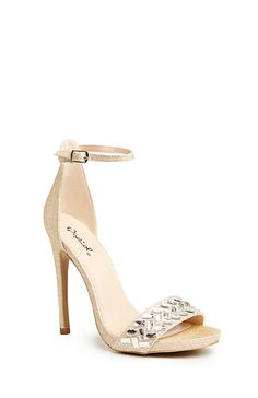 Taryn Sequin High Heels in Champagne