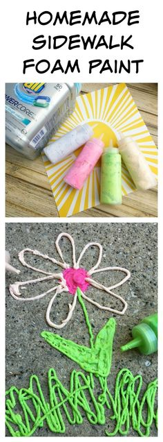 Do your kids love painting? Try this fun twist! Whip up a batch of homemade sidewalk foam paint. This super simple recipe requires only a handful of ingredients which you likely already have at home, so go head and take a few minutes to make this recipe and let the kids go to work decorating your sidewalk. Oh, and if the kids' clothes get messy, no worries, let all® POWERCORE™ Pacs take care of that. #Clean2TheCore #ad @walmart