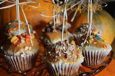 Caramel Apple Cupcakes! YUMM!!  Recipe:  https://www.facebook.com/photo.php?fbid=10204775393604612&set=pb.1230907378.-2207520000.1410373112.&type=3&theater