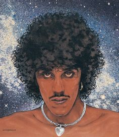 PHILIP LYNOTT SAGA OF THE AGEING. Signed and numbered Limited Edition Print Size x This is a reproduction made directly from the original painting and is as close to the original as is possible. This print will also be embossed as proof of authenticity. Jim Fitzpatrick, Thin Lizzy, Retro Vintage, Retro Pop, Limited Edition Prints, Rock Art, Saga, Original Paintings, Ageing