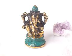 Blessing Ganesh Statue - Antique Brass Lucky Elephant Statue - Lord Of Wisdom Hindu Statue - Meditation Yoga Home Decor - Protection by BohemianTreasureSHOP on Etsy https://www.etsy.com/listing/290375341/blessing-ganesh-statue-antique-brass