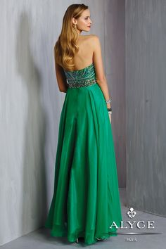 Alyce Prom Dress Style #6318 Back View