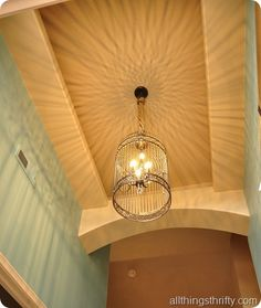 All Things Thrifty's take on Restoration Hardware's mucho pricey birdcage chandelier