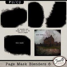 Page Mask Blenders 6 (PU-CU) by #JanetB Designs  #theStudio #digiscrap