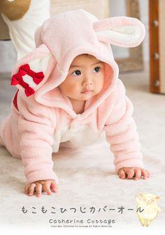 6334aba323f5b TK4039 ベビー もこもこひつじカバーオール 着ぐるみ 70 80 90 95cm 白 ピンク 赤ちゃん 男の子 女の子 出産