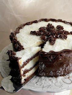 Kuhinja i ideje: Kokos-čokoladna fantazija! Torte Recepti, Kolaci I Torte, Baking Recipes, Cake Recipes, Dessert Recipes, Sweet Desserts, Sweet Recipes, Cake Cookies, Cupcake Cakes