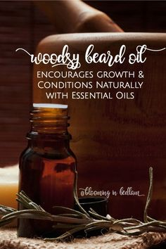 Make this Woodsy DIY Beard Oil recipe to promote growth and condition beards naturally with essential oils. This makes a great DIY gift for men because he will smell like a lumber jack and grow the best beard- Husband approved! Natural skin care and perso Homemade Skin Care, Diy Skin Care, Organic Skin Care, Natural Skin Care, Natural Beauty, Natural Face, Organic Beauty, Natural Oils, Natural Makeup