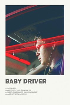 Image of Baby Driver - Mini Poster - Film Essence - Movies Iconic Movie Posters, Minimal Movie Posters, Movie Poster Art, Iconic Movies, Poster Wall, Poster Frames, Poster Series, Film Polaroid, Polaroids