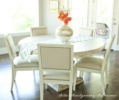 I love round dining tables - perfect for conversation eclecticallyvintage.com