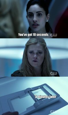 """Thank You cause I watched this and thought this is the longest 10 seconds ever - """"Perverse Instantiation – Part Two"""" 100 Memes, Funny Memes, Hilarious, Funny Shit, Lexa The 100, The 100 Clexa, The 100 Show, The 100 Cast, Lexa E Clarke"""