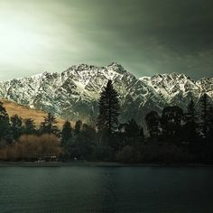 Mountain / Tree / Landscape: This landscape was taken in Queenstown New Zealand. It's a great shot of both the lake and mountains.