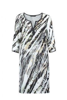 Angelia jurk antraciet grijs