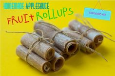Homemade Applesauce Fruit Rollups: The Schoolyard Hit. Refined-sugar free and oh so easy to make. Your kids won't stop asking for them! www.taste-affair.com Fruit Roll Ups, Homemade Applesauce, Gluten Free Recipes, Free Food, Sugar Free, Dairy Free, Sweet Treats, Affair, Celiac