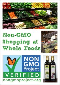 Gmo Free Gardening Non-GMO Shopping at Whole Foods Market from Real Food Real Deals Healthy Food Options, Get Healthy, Healthy Eating, Healthy Recipes, Fast Recipes, Skinny Recipes, Healthy Foods, Healthy Life, Whole Foods Market
