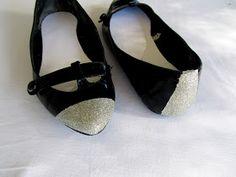 WobiSobi: Silver, Glitter Toe Shoes.