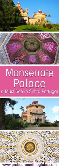Monserrate Palace and Gardens in Sintra #portugal the colourful Unesco World Heritage Site #sintra