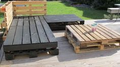 DIY Recycled Wooden Pallet Deck and Furniture are to be designed and created with pallet ideas.