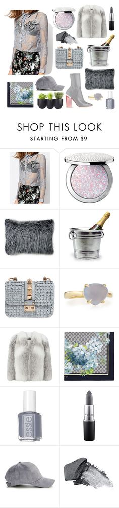"""""""GRAY GREY"""" by be-marta ❤ liked on Polyvore featuring Sister Jane, Guerlain, Christian Dior, Ethan Allen, Match, Valentino, Harrods, Gucci, Essie and MAC Cosmetics"""