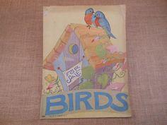 Cute Vintage Children's Picture Book  Birds by KirasCuriosities, $15.00