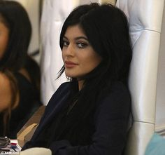 Kylie Jenner gets pampered at nail salon in LA with dog Norman #dailymail
