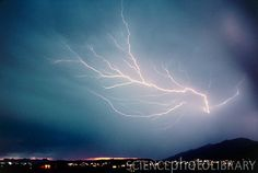 Monsoon lightning storm over Tuscon ,Arizona,USA
