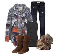 cute simple fall outfit made by yours truly. this outfit consist of a messy bun some adorbs dark wash hollister jeans and nice and cozy hollister sweater a long with a dark charchol  tank and some cute minnetonka fringe  boots!