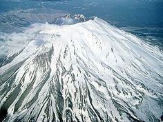Mount St. Helens is an active volcano in Washington. It last erupted in May 1980.  Image Credit: Jupiterimages