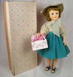 """1950s 25"""" Sweet Sue Flexible Foot American Character, Box, Insert, Extra Outfits - All Original"""