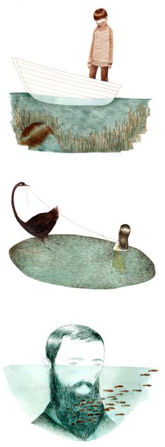 Quiet, beautiful, and just a little bit sad,  lovely drawings by artist/illustrator Julie Morstad