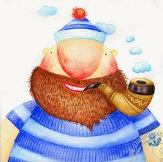 szuflada z rysunkami: cd portretów - marynarz Krzycho