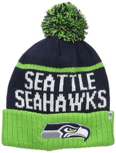 ad5639ab870 Seattle Seahawks NFL Hat Stocking New Cuff Knit Blue Green Embroidered Logo  New  47