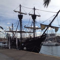 Could be the Black Pearl in Barcelona Harbour