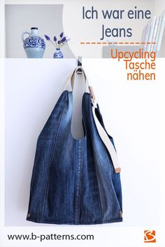 Diy Jeans, Recycle Jeans, Upcycle, Sewing Patterns Free, Sewing Tutorials, Denim Tote Bags, Minimalist Bag, Travel Handbags, Textiles